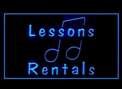 Music Lessons Rentals LED Neon Sign