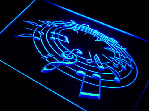Music Notes Room Neon Light Sign