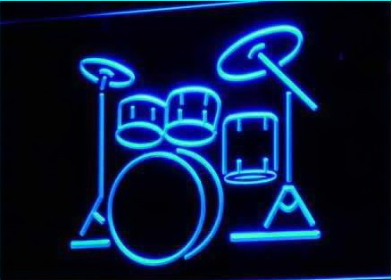 My Band Room Drum Music Instruments Light signs
