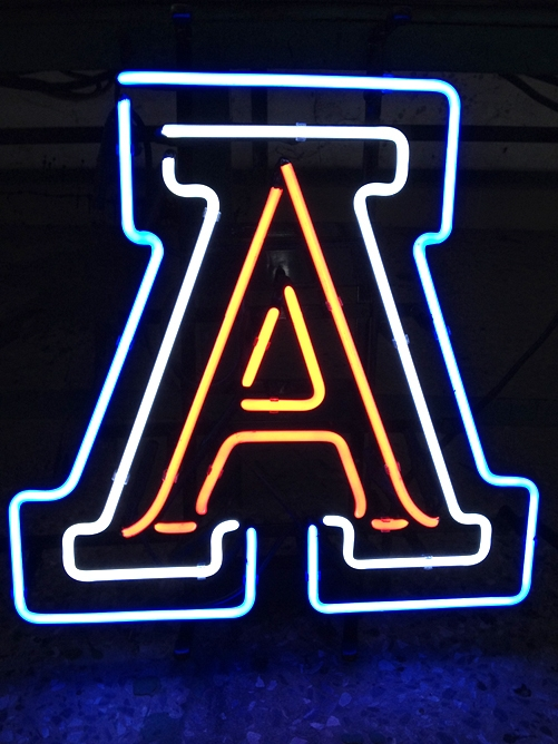 NCAA Arizona Wildcats A Logo Neon Sign 16 x 14