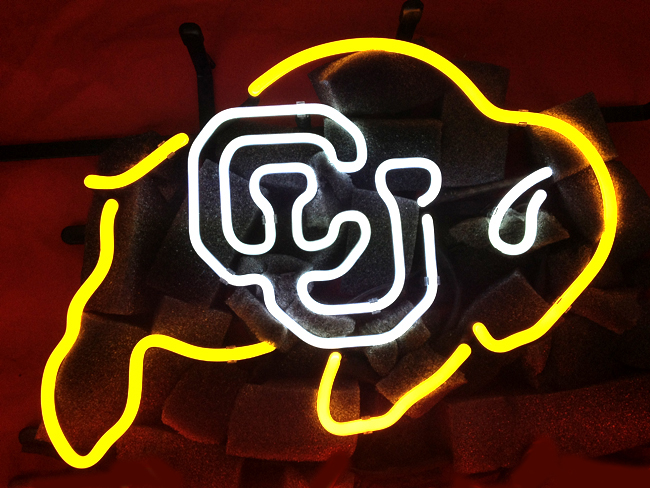 NCAA Buffalo Buffs Uni Neon Light Sign 17x13