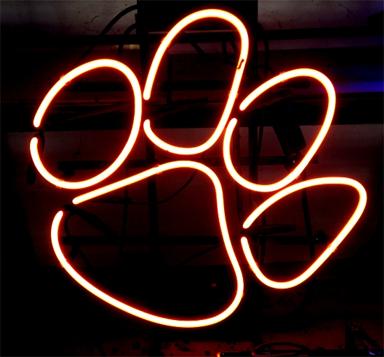 NCAA Clemson Tigers Classic Neon Sign 15 x 15