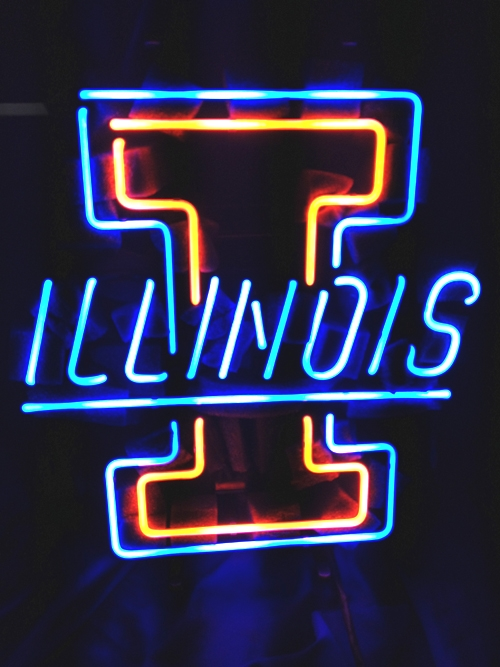 NCAA Illinois Fighting Classic Neon Light Sign 17 x 12