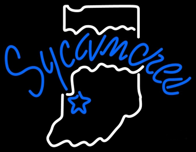 NCAA Indiana Sycamores State Neon Light Sign 17 x 14