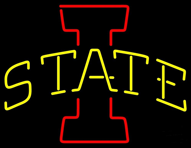 NCAA Iowa State Cyclones Neon Light Sign 17 x 14
