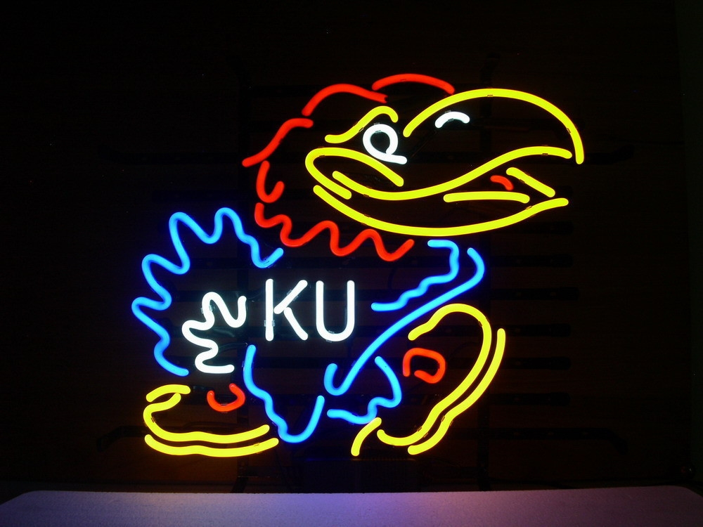 NCAA Kansas Jay Hawks Neon Light Sign 16 x 14