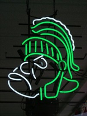 NCAA Michigan State Spartans Classic Neon Light Sign 15x11