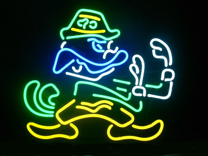 NCAA Notre Dame Fighting Irish Beer Sign Neon 16 x14