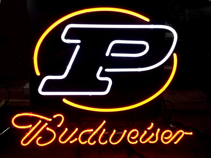 NCAA Purdue Budweiser Beer Neon Light Sign 16 x 14