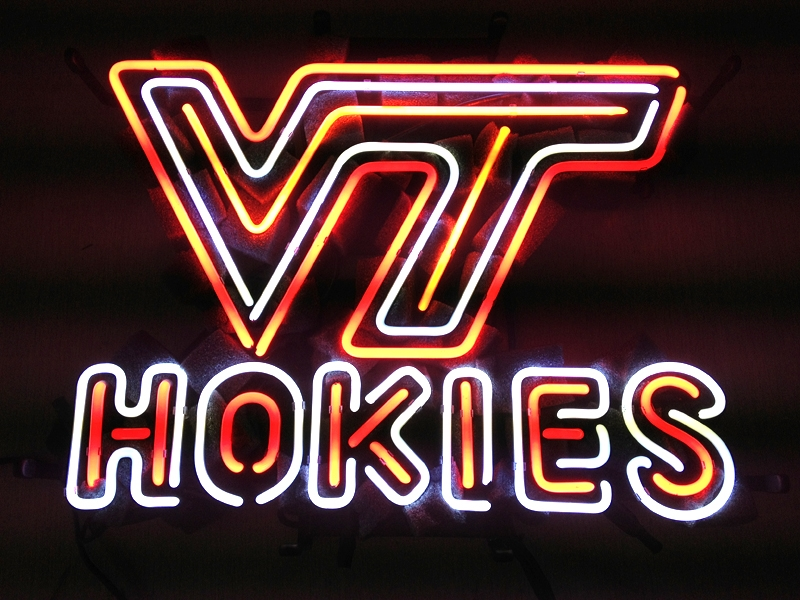 NCAA Virginia Tech Hokies Classic Neon Light Sign 24 x 20
