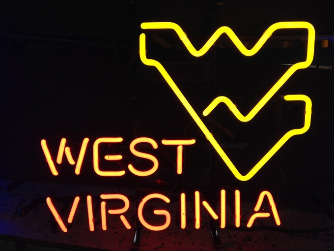NCAA West Virginia Mountaineers Basketball Sign 17 x 13