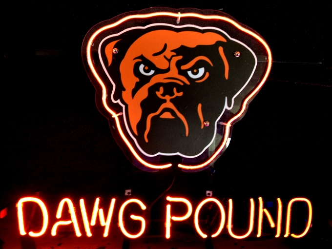NFL Cleveland Browns Dawg Pound Neon Light Sign 16 x 14