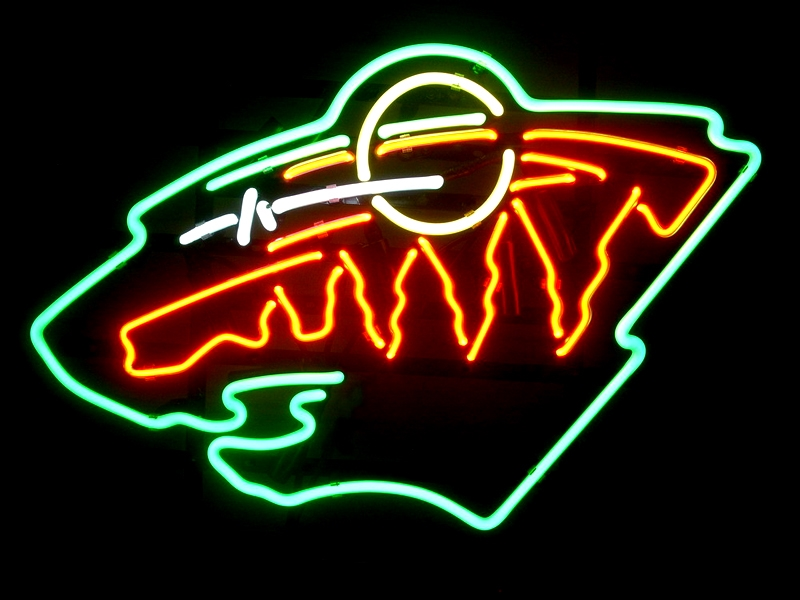 NHL Minnesota Hockey Classic Neon Light Sign 16 x 14
