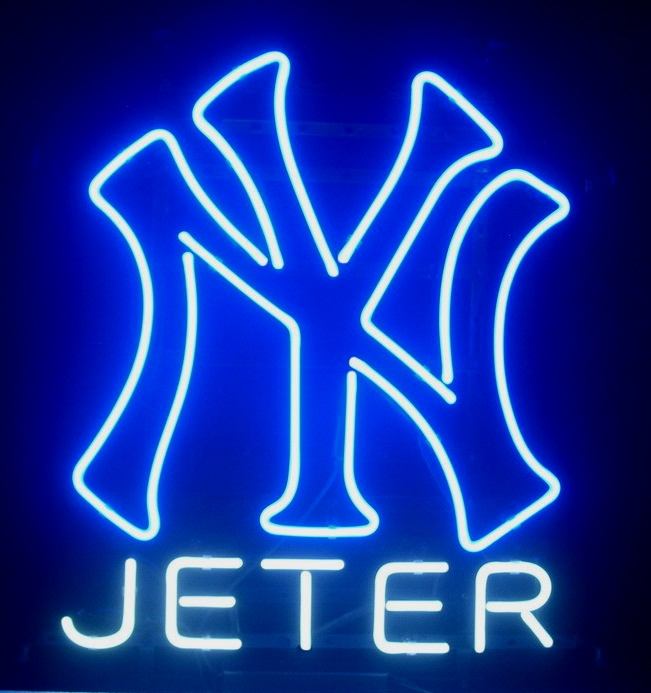 NY Giants Jeter Blue Neon Light Sign 16 x 11