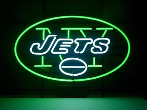 NY Jets Green Classic Neon Light Sign 17 x 14