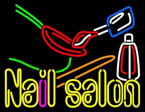 Nail Salon Polish Logo Neon Sign