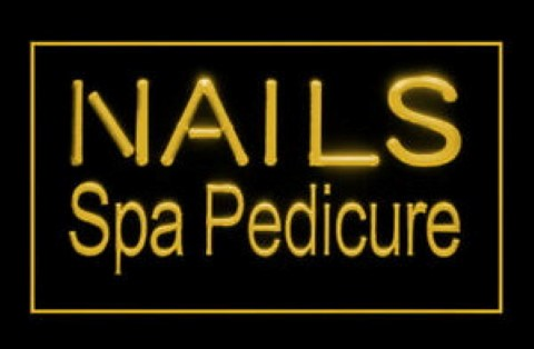 Nails Spa Pedicure Beauty Massage Service LED Neon Sign
