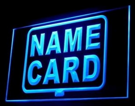 Name Card Shop Custom Design Personal Logo LED Neon Sign