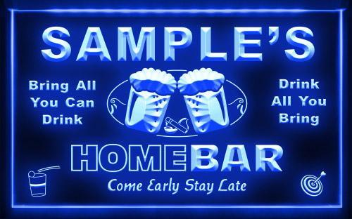 Name Personalized Custom Home Bar