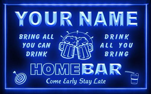 Personalised custom made signs shacksign custom led neon name personalized home bar neon light sign aloadofball Gallery