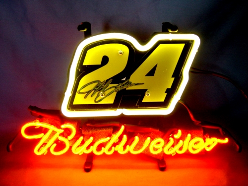 Nascar Racing #24 Budweiser Neon Sign 13 x 9
