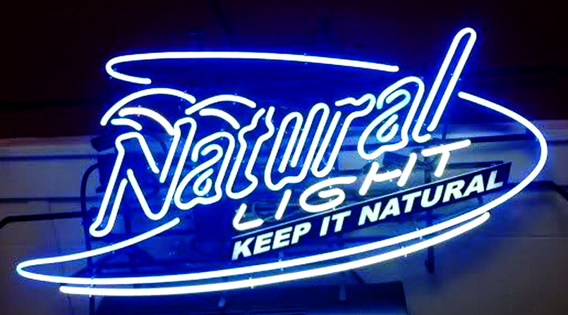 Natural Light Keep It Natural Neon Sign