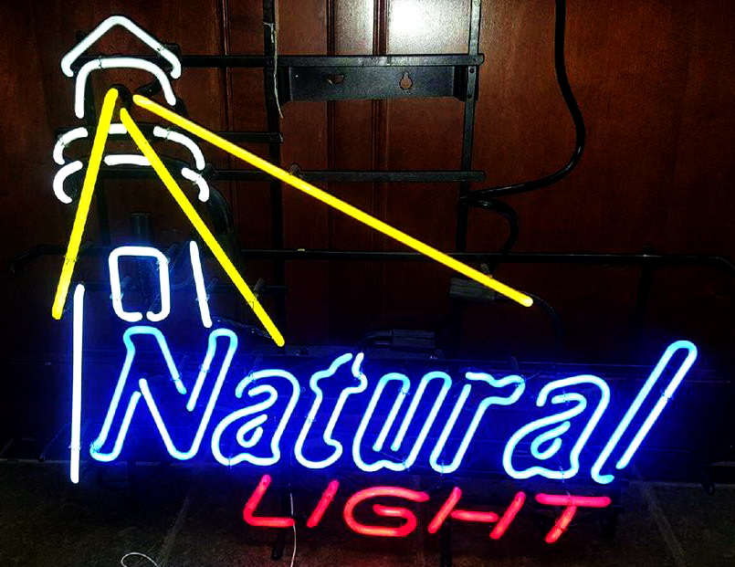 Natural Light Lighthouse Neon Sign