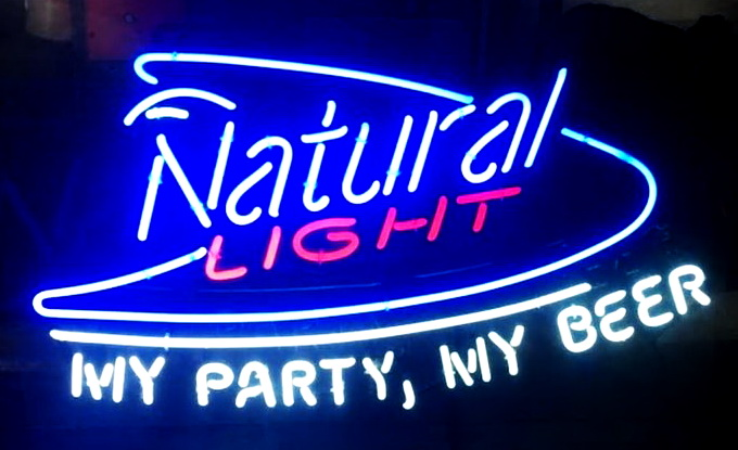 Natural Light My Party My Beer Neon Sign