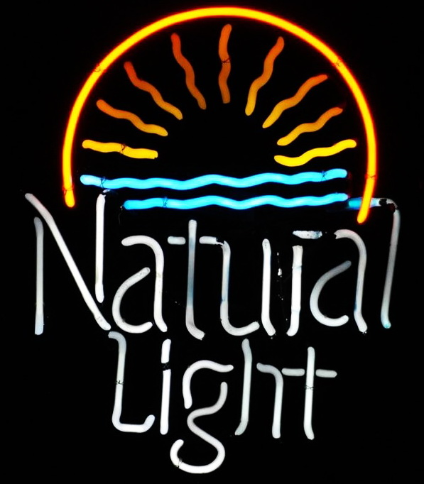 Natural Light Sunset Neon Sign