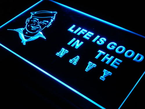 Navy Life is Good US Decor Bar Neon Light Sign