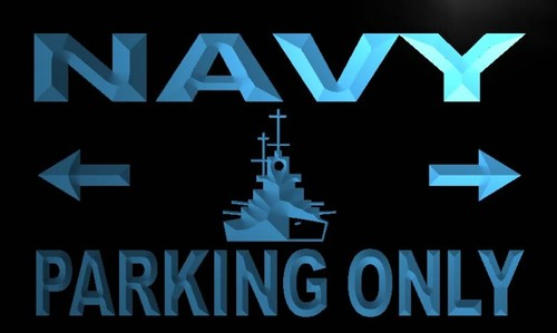 Navy Parking Only Neon Light Sign