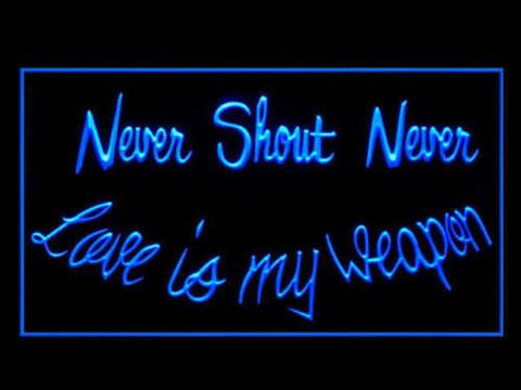Never Shout Never LED Neon Sign