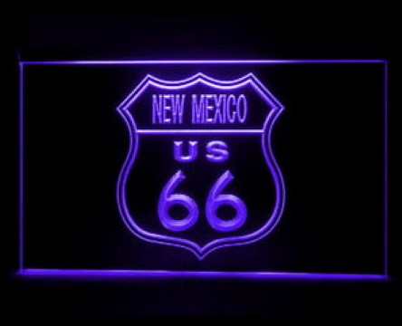 New Mexico Route 66 LED Neon Sign