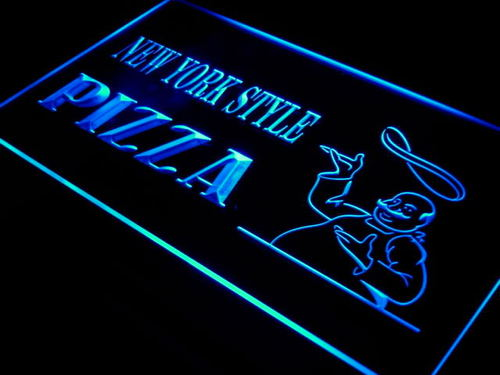 New York Style Pizza Shop Taste Neon Light Sign