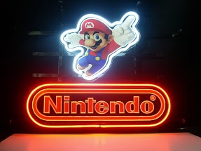 Nintendo Super Mario Red Classic Neon Light Sign 17 x 14
