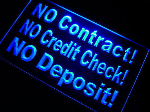 No Contact Deposit Neon Light Sign