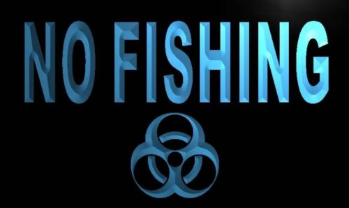 No Fishing Neon Light Sign