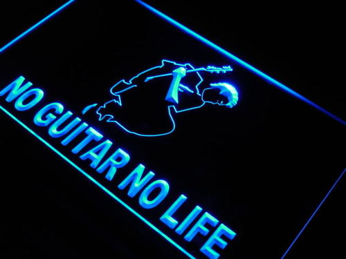 No Guitar No Life Music Rock n Roll Light Sign