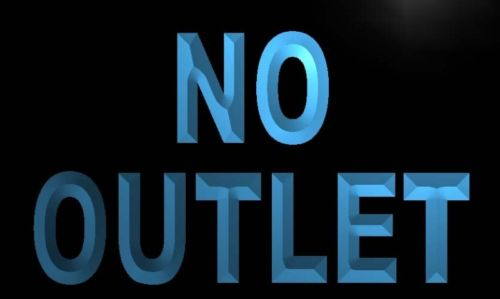 No Outlet Neon Light Sign