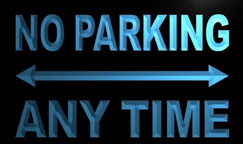 No Parking Any Time Neon Light Sign