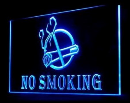 No Smoking Area Cigarettes LED Neon Sign