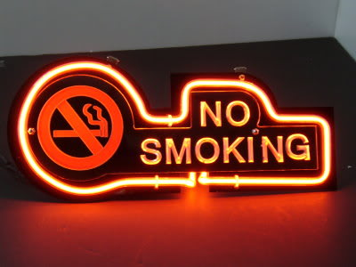 No Smoking Cafe Restaurant Red Neon Bar Mancave Sign