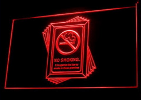 No Smoking Public Health LED Neon Sign