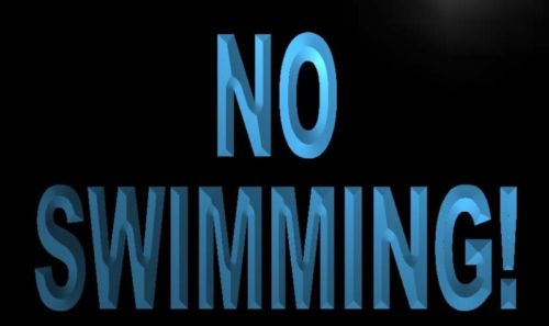 No Swimming Neon Light Sign