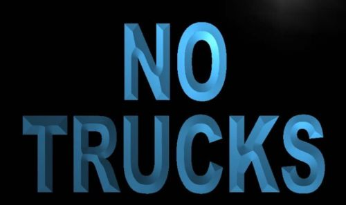 No Trucks Neon Light Sign