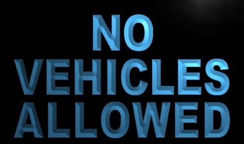 No Vehicles Allowed Neon Light Sign