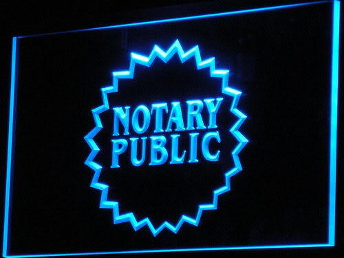 Notary Public Business Displays Neon Light Sign