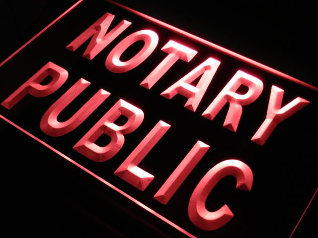 Notary Public Sevice Office Neon Light Sign