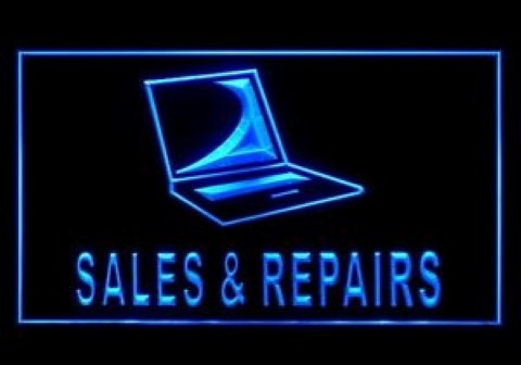 Notebook Laptop Sales Repairs LED Neon Sign
