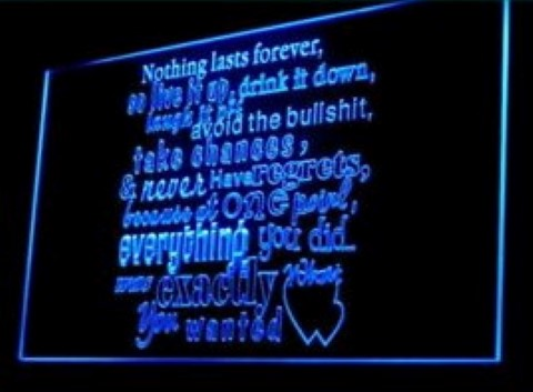 Nothing Last Forever Cafe LED Neon Sign